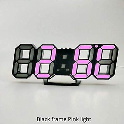 Amazon.com: Wall Clock 3D LED Modern Design Digital Table ...
