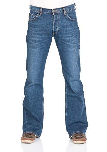 Lee Denver Denver Bootcut Denim Stretch Trousers 85% Cotton Blue w30-w44
