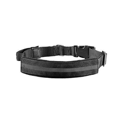 OneTigris Tactical Dog Collar with Handle and UTX-duraflex Buckles Adjustable Nylon Collar Fit Medium to Large Dog with 17 - 24.2 Neck Girth (Reflective Black)