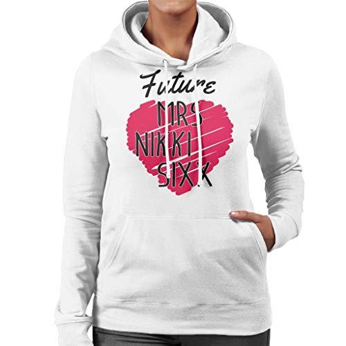 Sixx Women's Nikki Coto7 Future Hooded White Sweatshirt Mrs FAv1U