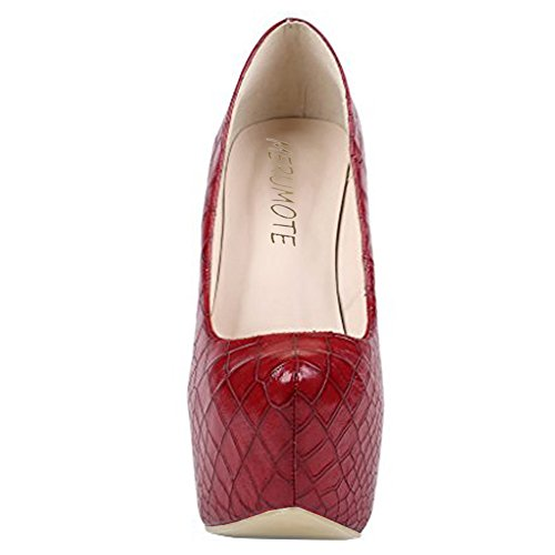 MERUMOTE - Zapatos de Plataforma mujer Red