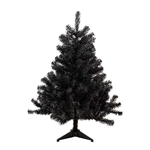 (Northlight 4' Black Colorado Spruce Artificial Christmas Tree - Unlit)