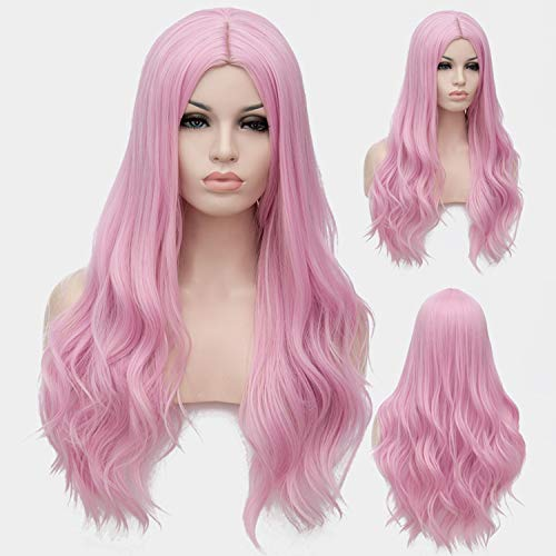 Similar Cosplay Long Wavy Full Synthetic Wigs Fluffy Hair Wig with Cap Halloween Gift,14,28inches