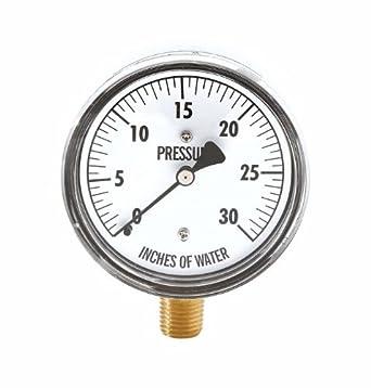 Cole Parmer Pressure Gauge 1 4 Npt M Process Connection  Water Column Amazon Com Industrial Scientific