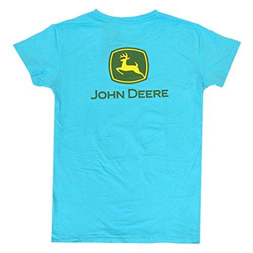 J. America John Deere FFA Ladies Turquoise Short Sleeve T-Shirt-Medium (Deere John Ladies Shirt)