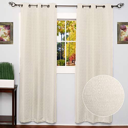 Sweet Home Collection 2 Pack Blackout Curtains Window Panels Room Darkening Thermal Insulated with Metal Grommets Diamond - Curtains Dreams Sweet
