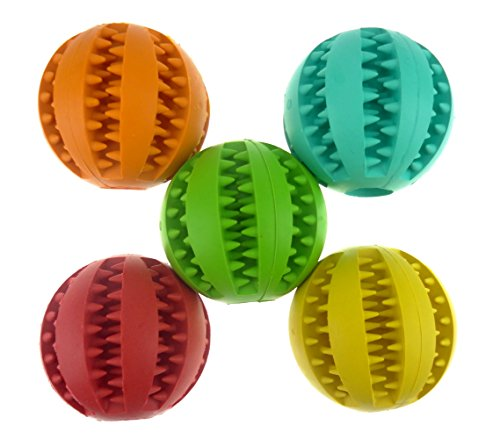 Coevals-Club-Pet-Dog-Treat-Slow-Feed-Ball-Interactive-IQ-Non-Toxic-Rubber-Dental-Treat-Tooth-Cleaning-Toy-for-Dogs-Training-Playing-Chewing