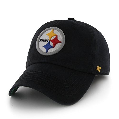 Pittsburgh Steelers 47 Brand Black The Franchise Fitted Hat