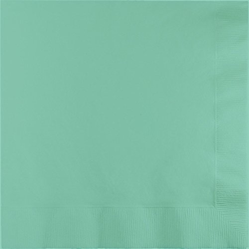 Club Pack of 250 Fresh Mint Green Premium 3-Ply Folded Paper Dinner Napkins 4