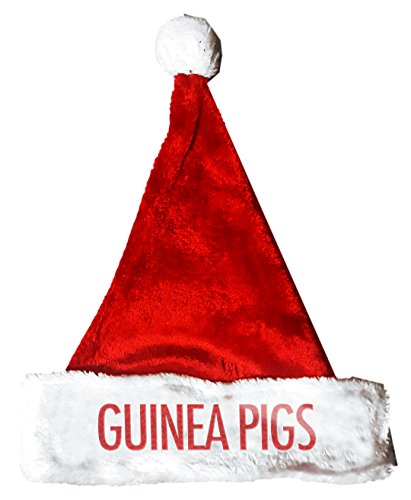 Guinea Pig Costumes For Christmas (GUINEA PIGS Santa Christmas Holiday Hat Costume for Adults and Kids u6)