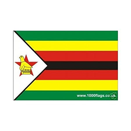 Zimbabwe flag vinyl car sticker