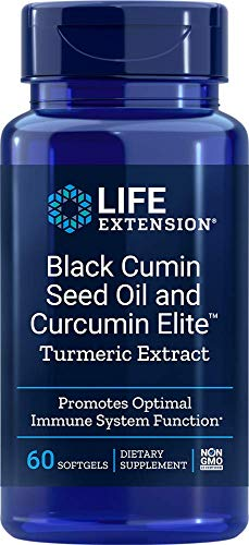 Life Extension Black Cumin Seed Oil & Curcumin Elite Turmeric Extract, 60 Softgels (Full Spectrum Black Cumin Seed)