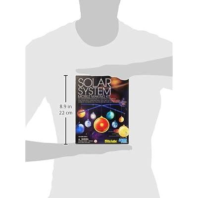 4M Kidz Labs Solar System Mobile Making Kit: Toys & Games