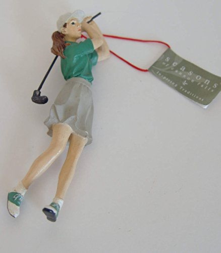 Lady Golfer Ornament Midwest Importers of Cannon Falls 4 Inches Tall