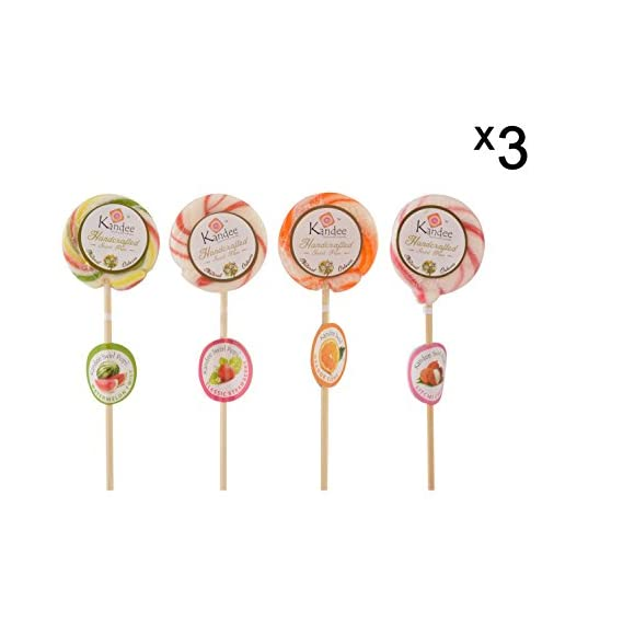 Kandee Swirl Pops Assorted Fruity Flavours in Natural Colours, 10 g , Pack of 12