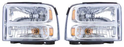 FORD F-SUPER DUTY/F250,350,450,550/EXCURSION PAIR HEADLIGHT 05-07/05-07/05 NEW
