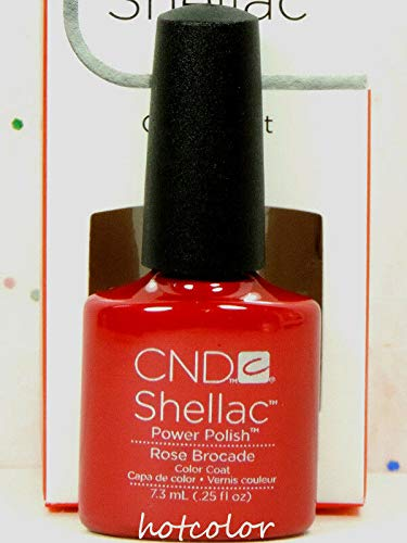 (CND Shellac GelColor Nail Polish/Base/Top/Brand New Gel Color #2 - Choose Any 90622- Rose Brocade)