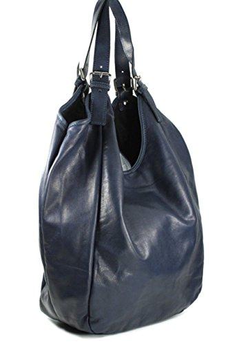 Superflybags - Bolso de asas para mujer XL azul oscuro