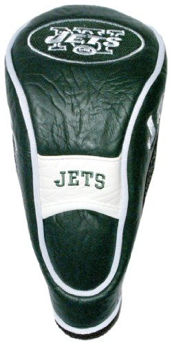 Team Golf NFL New York Jets Hybrid Golf Club Headcover, Hook-and-Loop Closure, Velour lined for Extra Club Protection ()