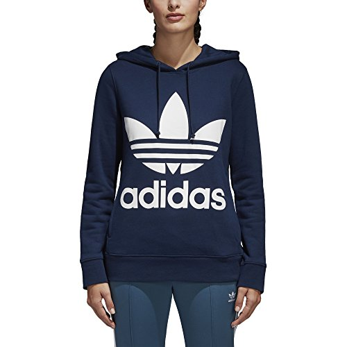 adidas Originals Women's Trefoil Hoodie, Collegiate Navy, S
