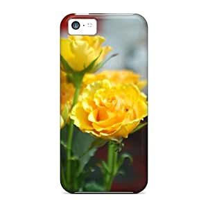 Iphone 5c Hard Back With Bumper Silicone Gel Tpu Case Cover Gift Roses