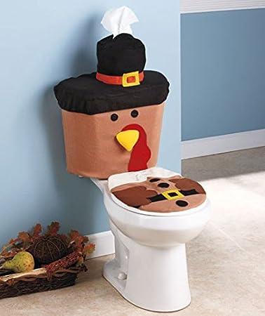 Thanksgiving Turkey Toilet Set