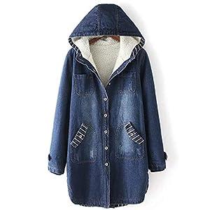 Women's Thick Loose  Fleece Lined  Denim Jean Jacket