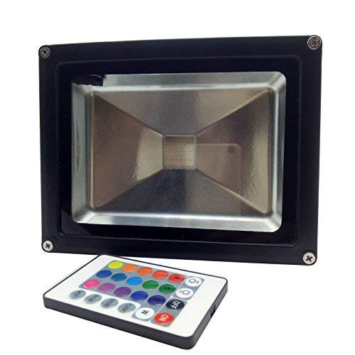 Pearlight 20W RGB Led Floodlight,Energy Saving Outdoor Waterproof IP65 Security Lighting