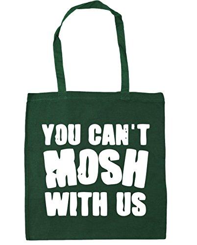 HippoWarehouse no se puede Mosh con nosotros Tote Compras Bolsa de playa 42cm x38cm, 10litros verde oscuro