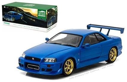 Nissan Skyline Gtr 1999 >> Amazon Com New 1 18 Greenlight Artisan Collection Blue