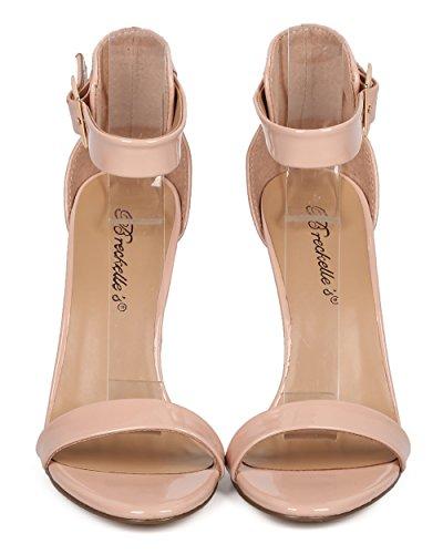 Breckelles Kvinnor Patent Stilett Sandal - Bröllop, Dressy, Formellt - Ankelbandet Häl - Gg43 Av Rouge