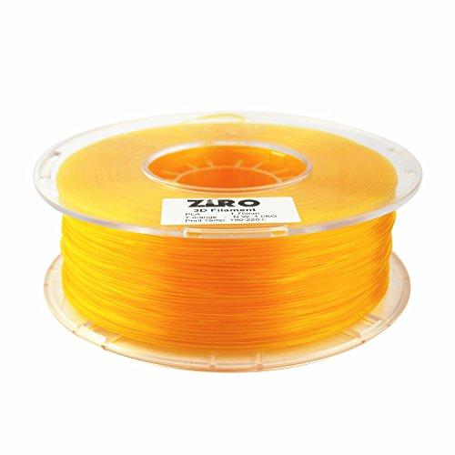 ZIRO 3D Printer Filament PLA 1.75 1KG(2.2lbs), Dimensional Accuracy +/- 0.05mm, Translucent Orange by ZIRO (Image #1)