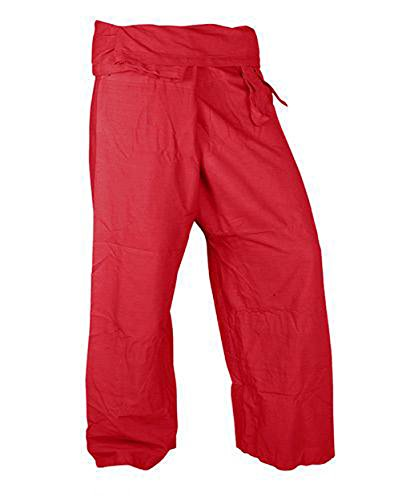 Beautiful-Fresh-Red-Pants-Rayon-Fabric-Yoga-Trousers-Thai-Fisherman-Pants-Lulemon-Pants-Free-Size