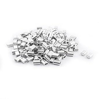 eDealMax 200 Piezas de aluminio de reloj de Arena de la Manga DE 3 mm x