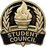 1'' Student Council Pin, Enamel Student Council Lapel Pin, Great Education Awards 30 Pack