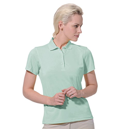 Monterey Club Dry Swing Pique Short Sleeve Solid Polo #2060 (Beach Glass, 2X-Large)