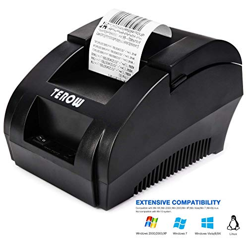Buy USB Thermal Receipt Printer TEROW 58mm Mini Small Portable Label Printer with High Speed Printin...