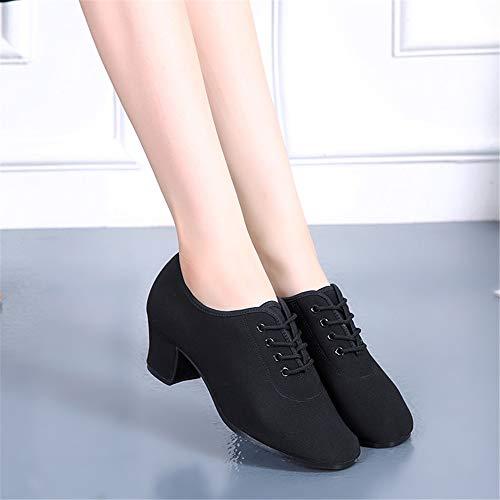 Soft Shoes Adult Dance Oxford Ladies Cloth Size Hutt Black 220 Bottom Latin Dance Shoes 260 wgHxq6w0a