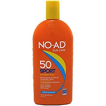 NO-AD Sport Sunscreen Lotion, SPF 50 16 oz Pack of 8
