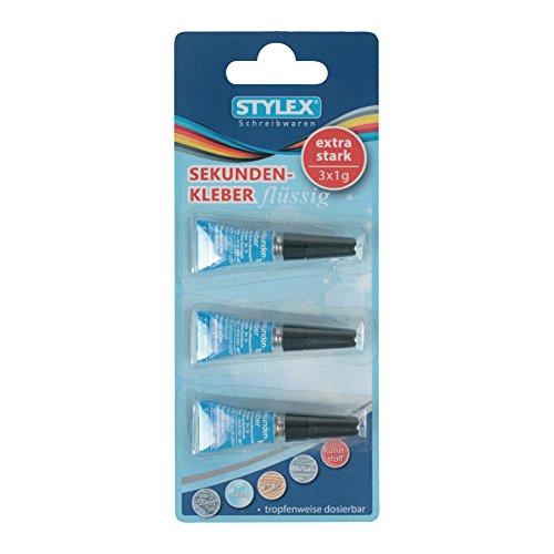 Stylex 31047 Sekundenkleber 3 Stück je 1 g