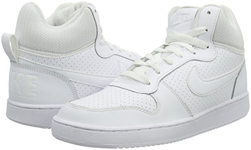 blanc Blanc blanc Femmes Nike Basket Mid Blanco De Court Borland Chaussures z7fK8qAw