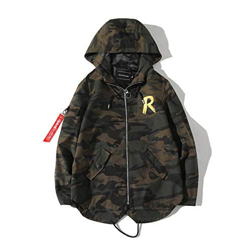 Outerwear Camouflage Men's Coat Casual Jacket Hooded Tops Green XnUqZR1