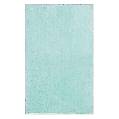 "Home Dynamix Blue Alpine Bathroom Mat : Absorbent and Ultra Plush, Non Skid Backing (17"" x 24"")"