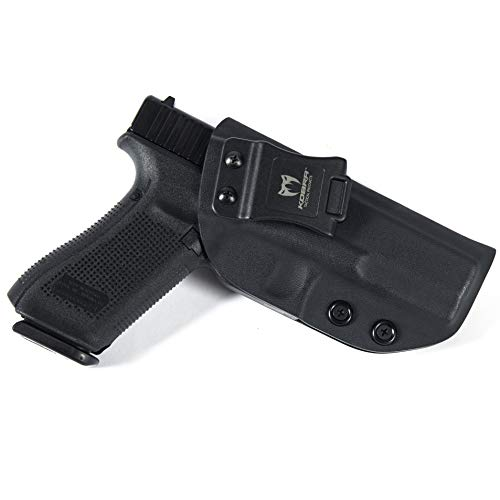 KOBRA Products IWB Holster for Glock 17, Holsters for Glock 17 22 31, Made in USA Kydex IWB Glock 17 Holster, Glock Concealed Carry Inside Waistband Holster with Adjustable Cant - Right Hand