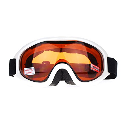 SA106 Brown Lens Aerodynamic Large Anti Fog Double Lens Snowboard Ski Goggle Pearl Brown