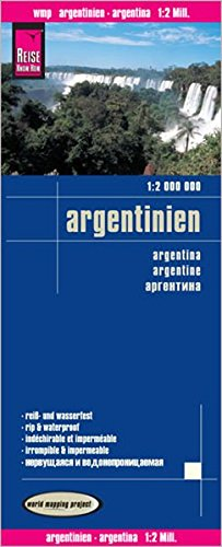 Reise Know How Landkarte Argentinien  1 2.000.000   World Mapping Project