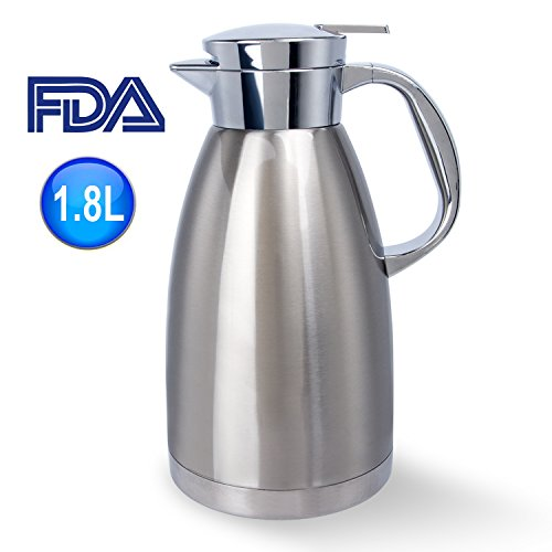 Stainless Steel Coffee Carafe 61 Oz Double Walled Vacuum Insulated Carafes by UNEED by Uneed (Image #5)