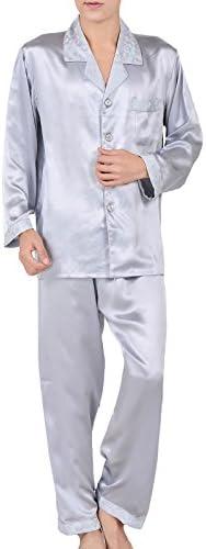 シルクパジャマ メンズ 絹100% 襟袖 高級ジャガード織 男性用 厚手生地