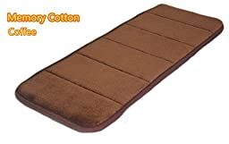 Falove Elbow Pad Slow Rebound Memory Cotton Computer Keyboard Wrist Support Mat (Coffee)