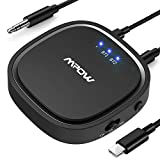 Mpow Bluetooth 5.0 Transmitter and Receiver, 2-in-1 Bluetooth Adapter with aptX Low Latency